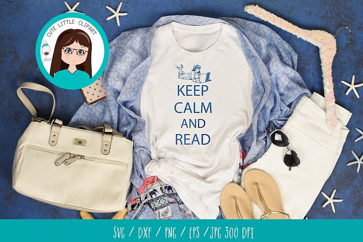 Keep Calm and Read svg