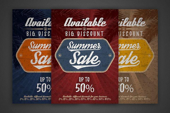 Summer sale vector vintage grunge