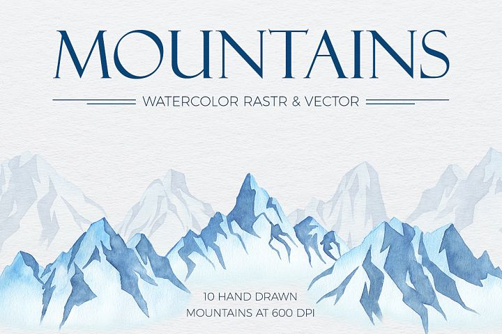 Mountains Watercolor Set
