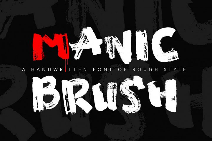Manic Brush Script Font