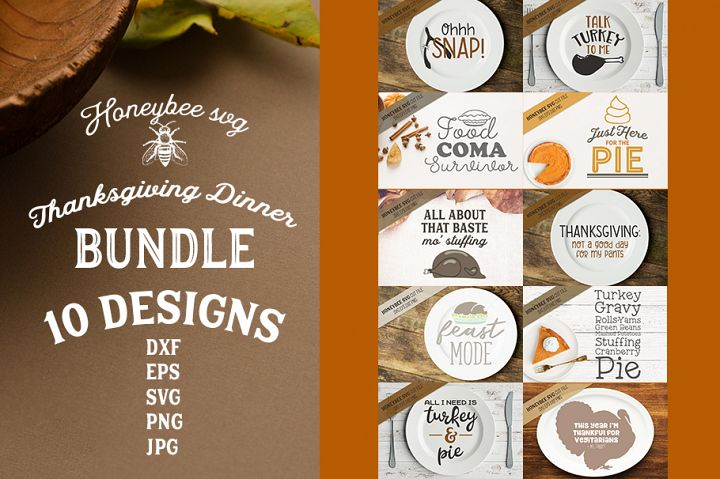 Thanksgiving Dinner Bundle SVG Cut Files