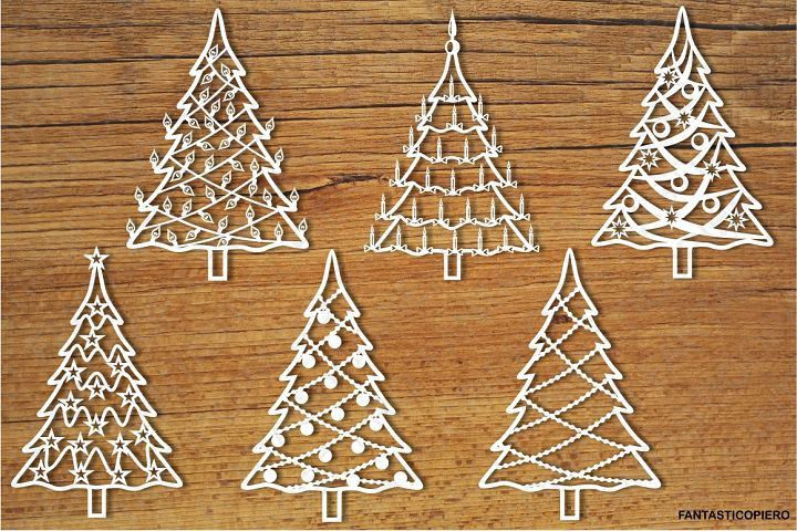 Christmas tree 2 SVG files for Silhouette Cameo and Cricut.
