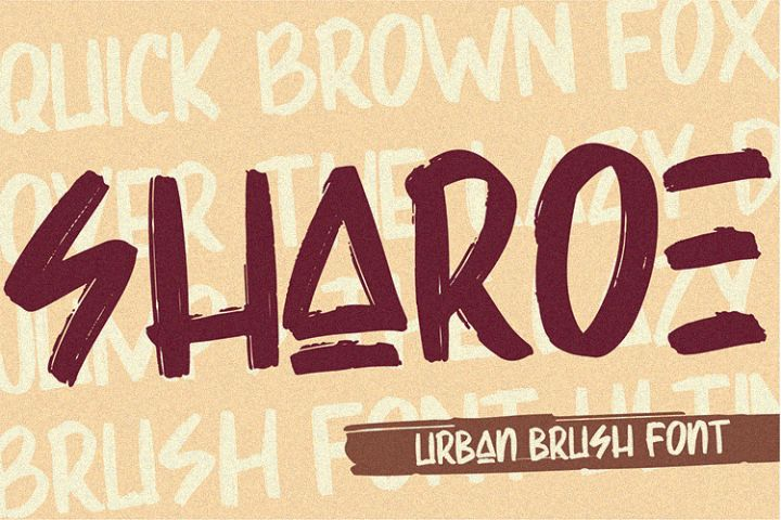 Sharoe - Brush Font
