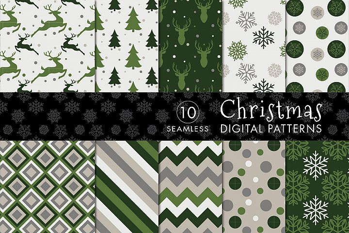 10 Seamless Christmas Patterns - Set 2