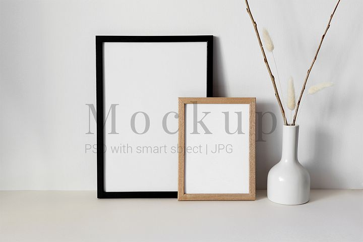 Two Mockups Photo Frame with Vase