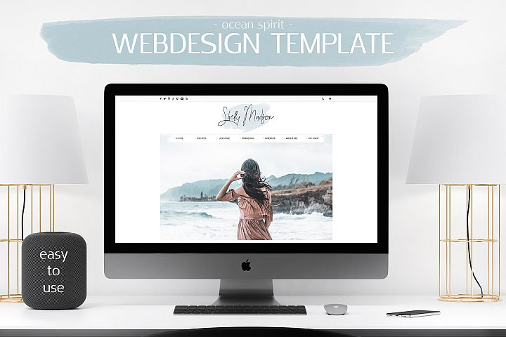 Webdesign Template DIY Blog