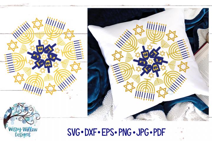 Hanukkah Mandala SVG | Chanukah Mandala SVG Cut File