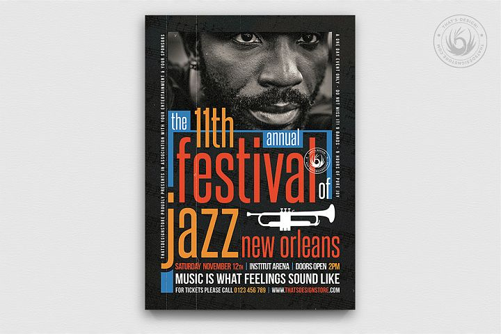Jazz Festival Flyer Template V10