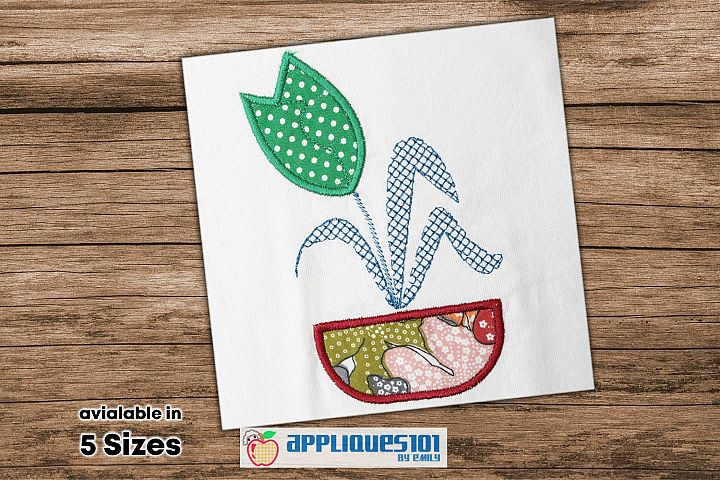 Tulip Flower Embroidery Applique Design - Flowers
