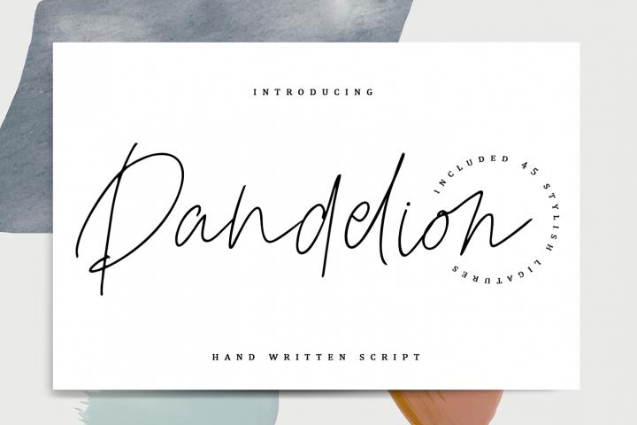 Dandelion - Stylish script.