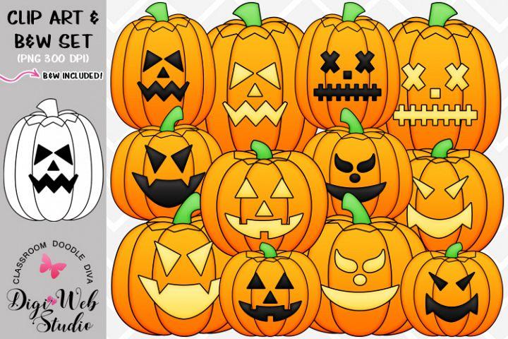 Clip Art / Illustrations - Jack-o-lanterns - Halloween