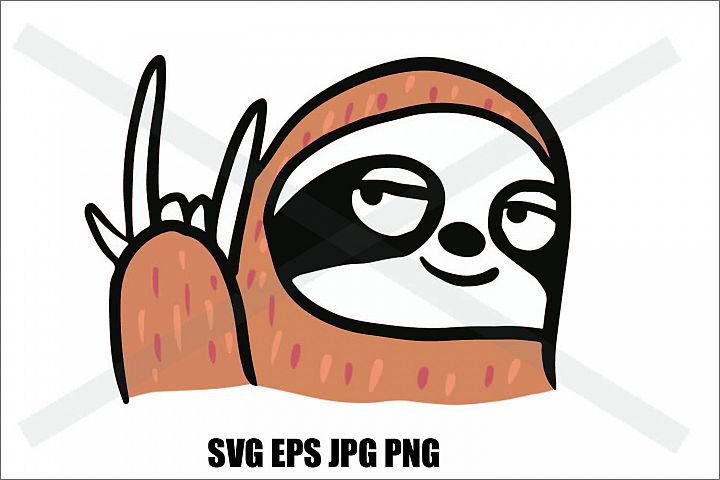Sloth I love you- SVG EPS JPG PNG