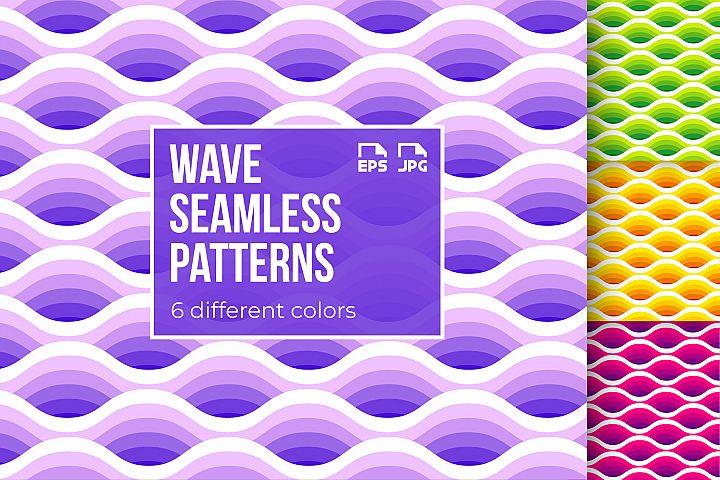 6 wave seamless patterns
