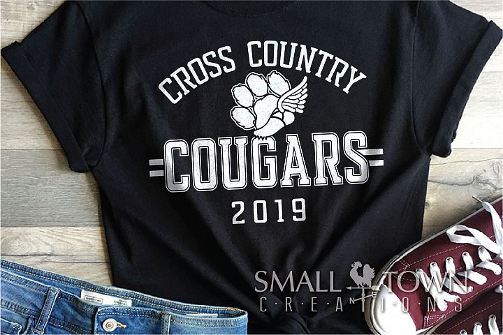 Cougars Cross Country, Cougars mascot, PRINT, CUT, DESIGN
