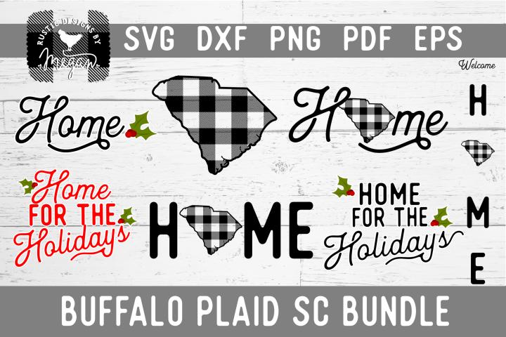 South Carolina Buffalo Plaid State SVG Bundle