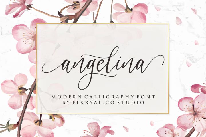 angelina - modern calligraphy font