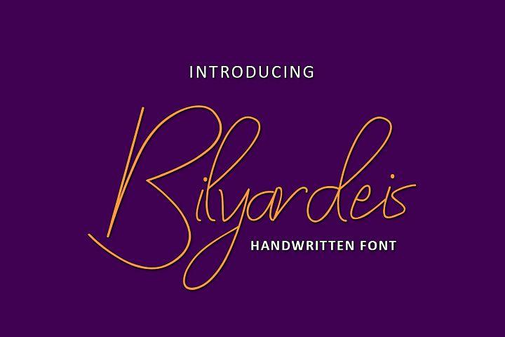 Bilyardeis - Handwritten Font