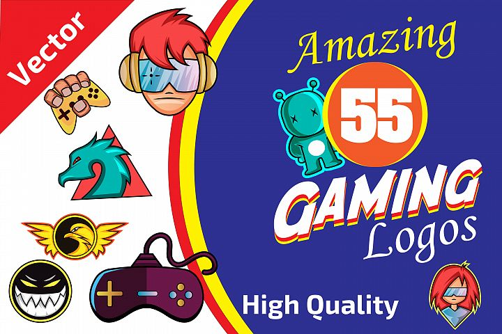 55x Huge Gaming LOGO collection!