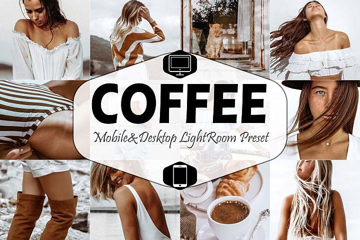 Coffee Mobile & Desktop Lightroom Presets, instagram modern