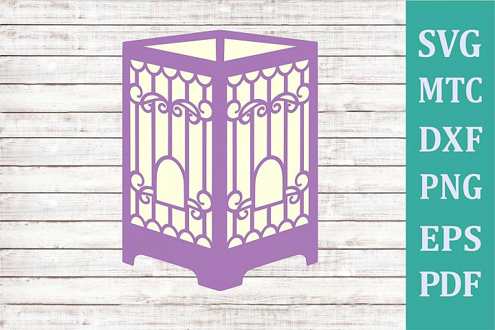 3D Paper Lantern Style #04 Bird Cage Design #09 Party Decor