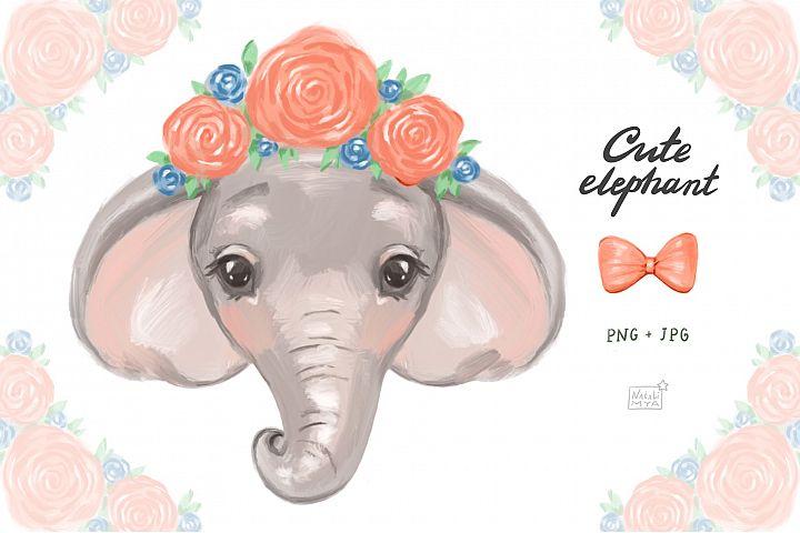 Cute elephant cliparts