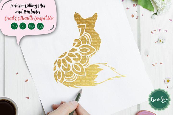 Fox Mandala SVG, Fox Svg, Fox Clipart, Floral Svg Fox Design
