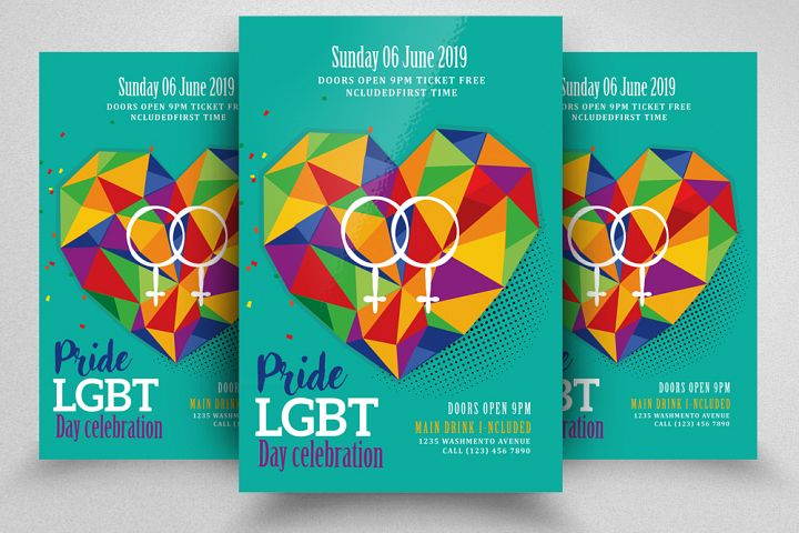 LGBT Pride Party Flyer