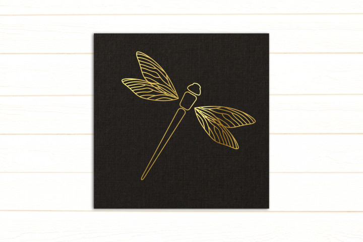 Dragonfly SKETCH Single Line Pen & Foil Quill SVG