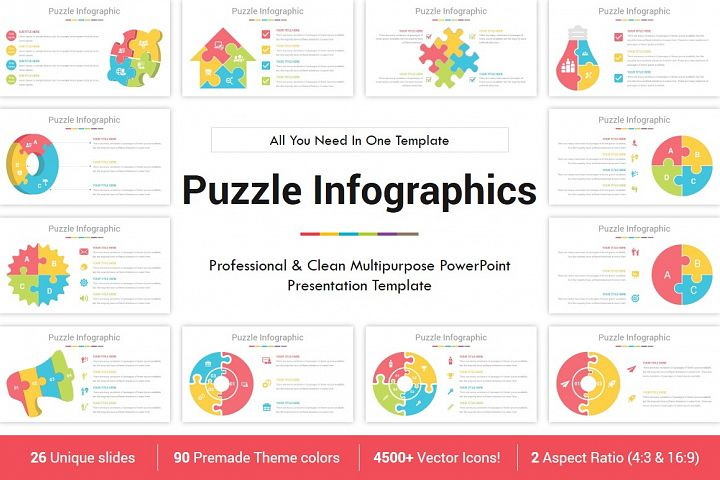 PowerPoint Puzzle Infographics