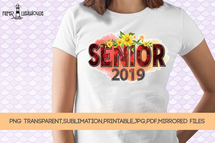 Senior 2019 - Graduation clipart, sublimation, iron on files