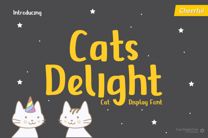 Cats Delight - Cat Display Font