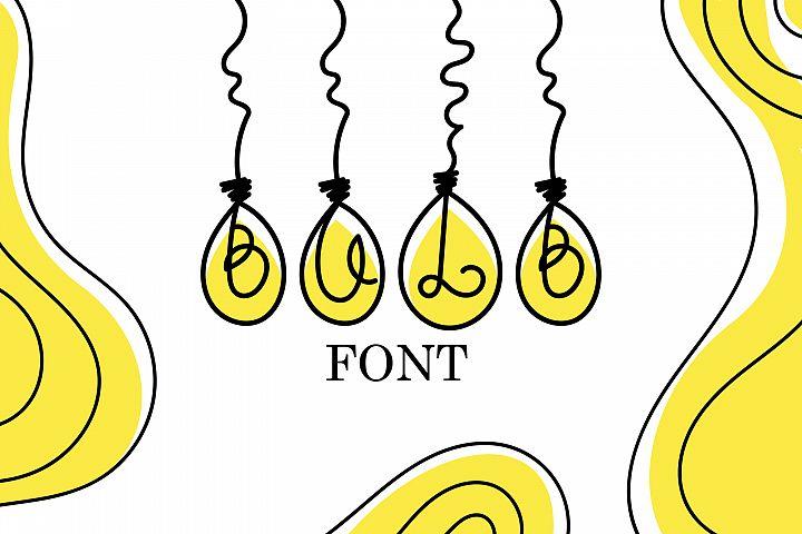 Bulb Font - A Cute Hanging Bulb Font