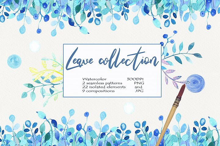 Watercolor LEAVE COLLECTION