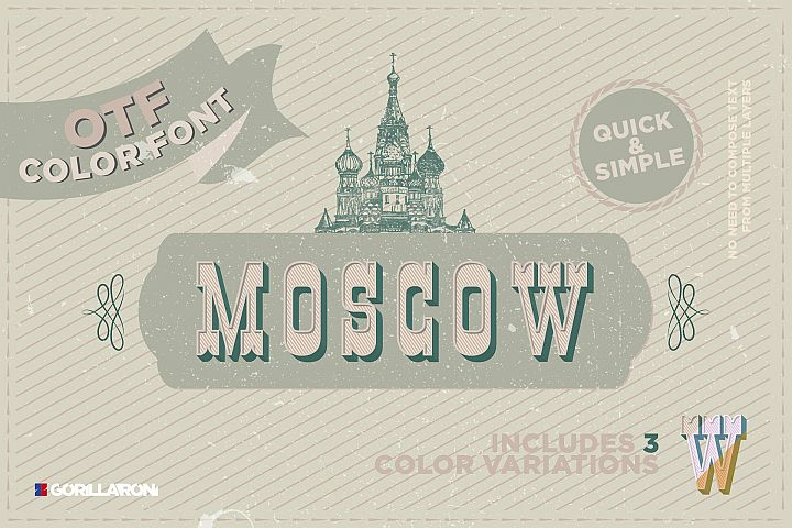 Moscow - SVG color font