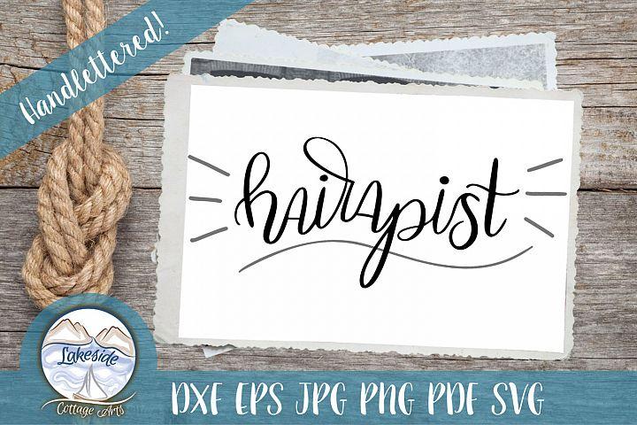 Hairapist - Handlettered Hair Stylist SVG Design