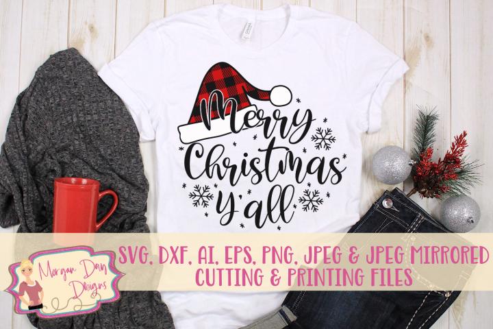 Merry Christmas Yall SVG, DXF, AI, EPS, PNG, JPEG