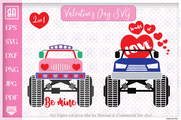 Valentines truck svg - Valentines day Truck bundle mini