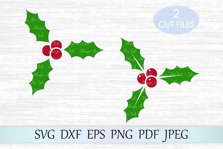 Holly svg, Holly berry SVG, Christmas Svg