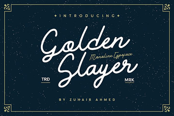 Golden Slayer - Monoline Typeface