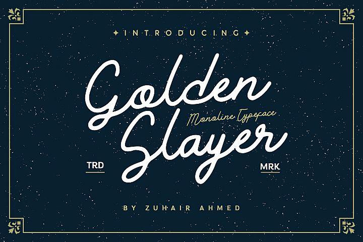 Golden Slayer - Monoline Typeface