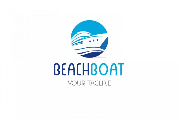 Beach, Cruise Ship Logo