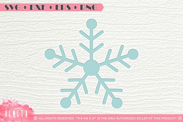 Snowflake| SVG DXF EPS PNG | Cutting File example 1