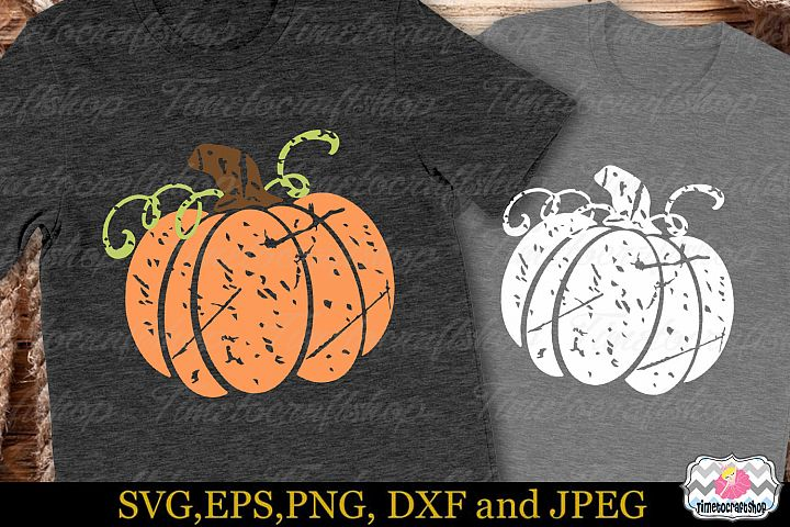 Thanksgiving SVG, Eps, Dxf & Png For Distressed Pumpkin