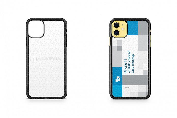 iPhone 11 2019 2d PC Colored Case Design Mockup