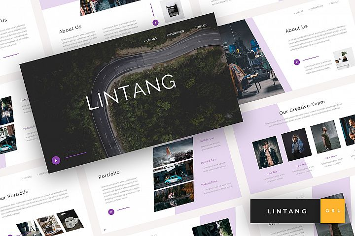 Lintang - Creative Google Slides Template