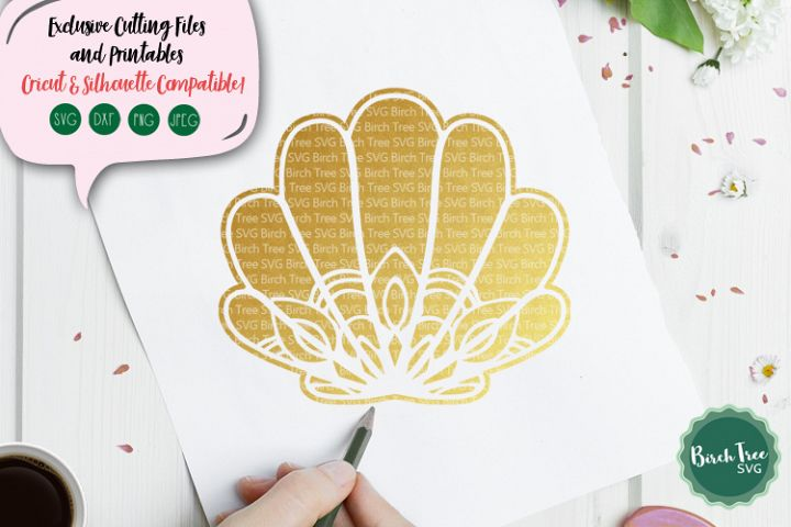 Seashell Mandala Svg, Seashell Svg Cut File, Beach Svg