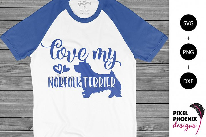 Love My Norfolk Terrier SVG