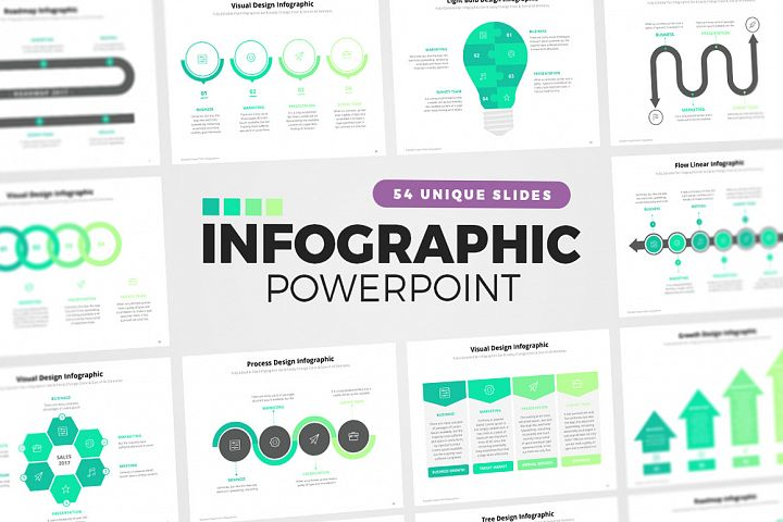 54 PowerPoint Infographic Elements