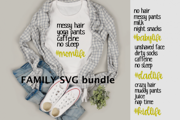mom life svg dad life svg kid life svg baby life bundle