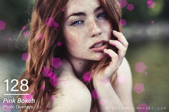 128 Pink Bokeh Photo Overlays